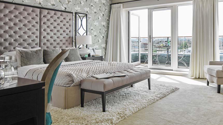 St Mary's Island master bedroom