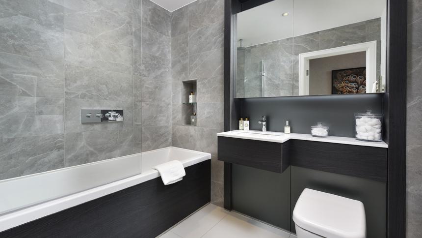 Hotel-style bathroom