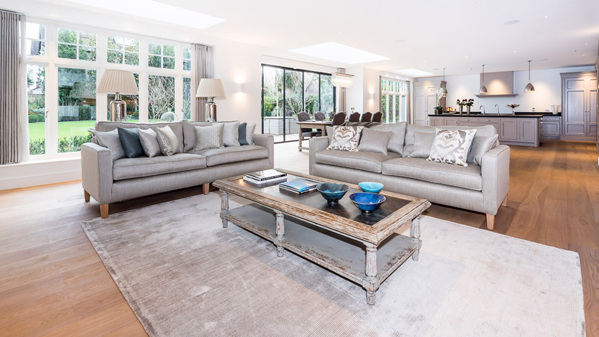 Walpole House open plan living room