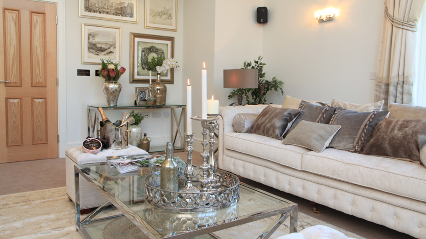 Elegant living room in Harrogate