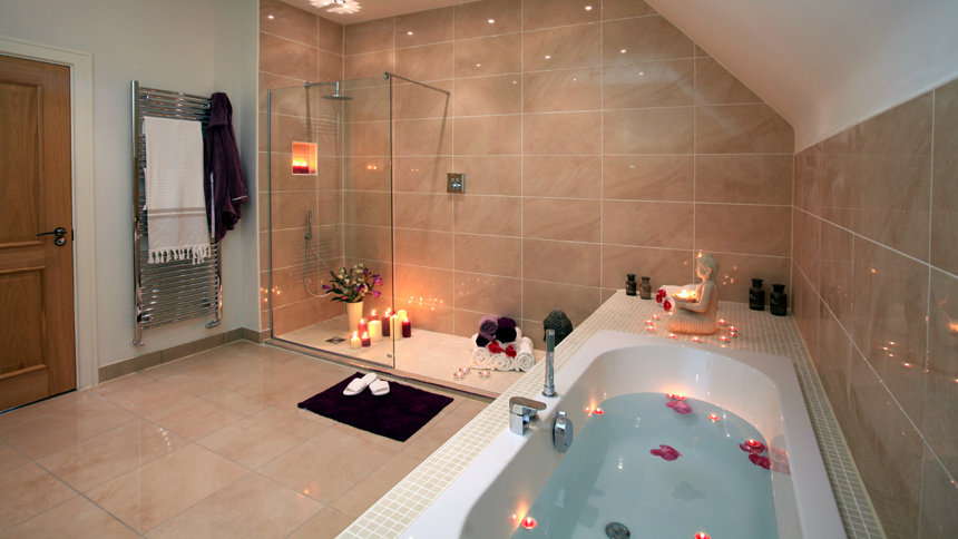 Luxury bathroom at Harrogate