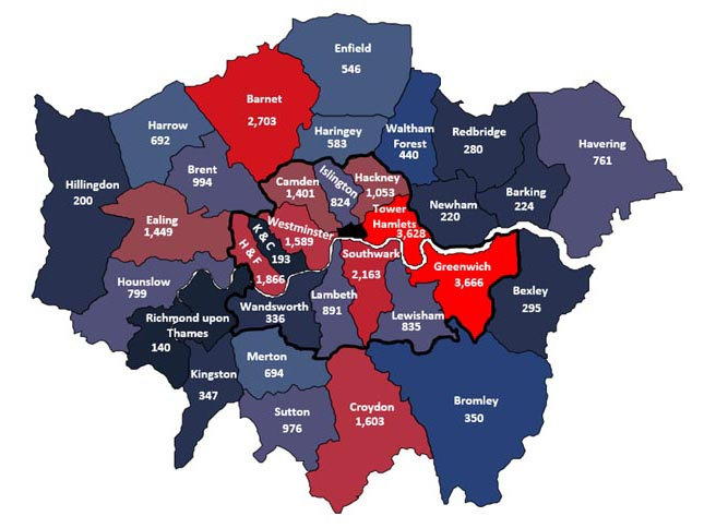 New homes approved in London 2015