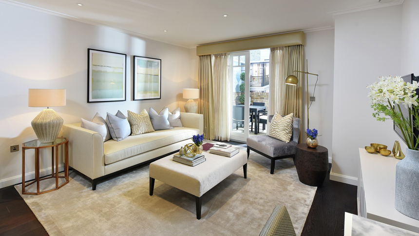 Hurlingham Walk living room