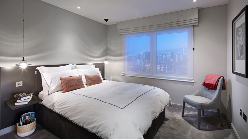 City Wharf bedroom