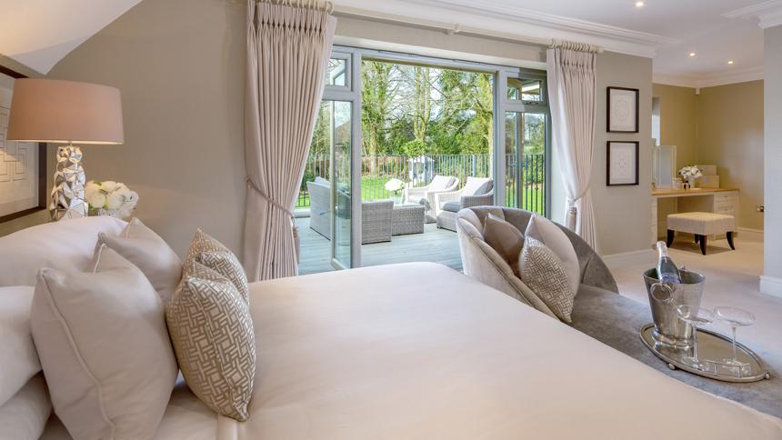 Hamilton Place master bedroom