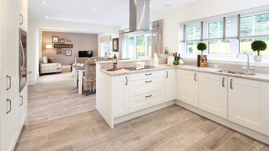 The open-plan kitchen at the Highgrove