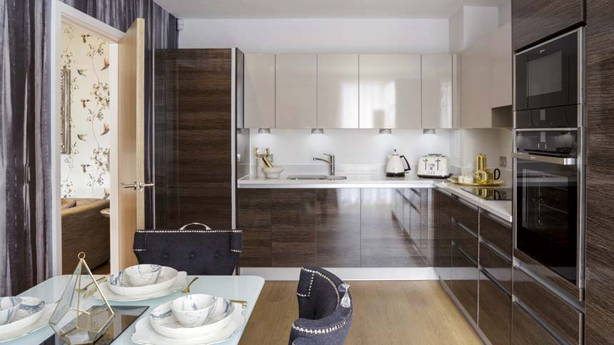 Kilburn Quarter kitchen (Network Homes)