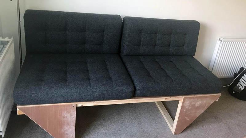 Hayleigh and Keith's sofa