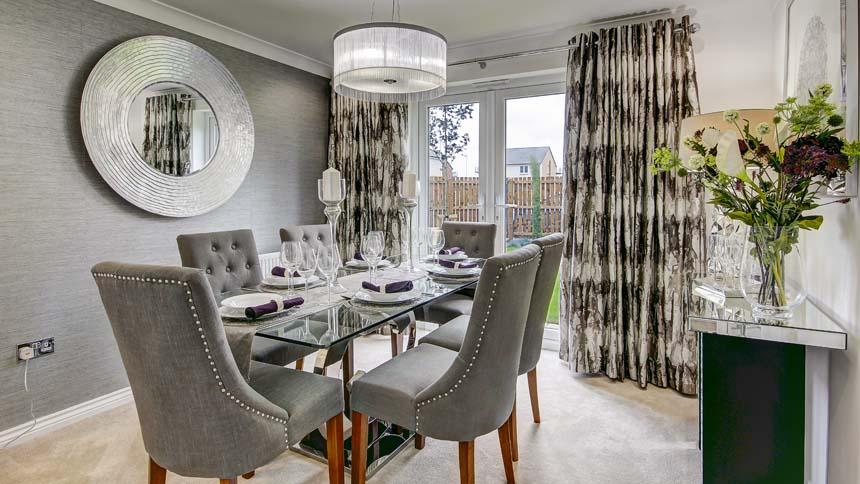show home dining room | The Maxwell', Frankfield Loch, Stepps - Show Home Room by Room