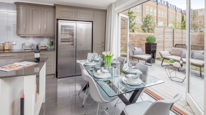 Kitchen and dining area at St Agnes Place